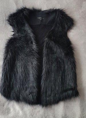 Mango Suit Vest van imitatiebont zwart