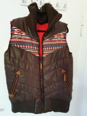 Evaw Wave Down Vest brown