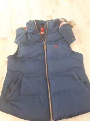 Chaleco con capucha azul oscuro