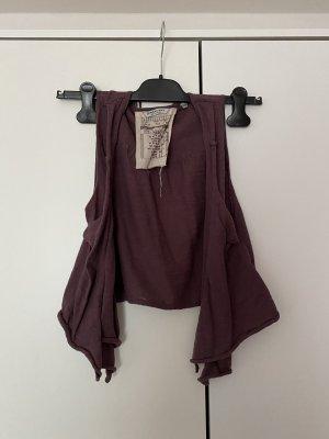 Knitted Vest brown violet