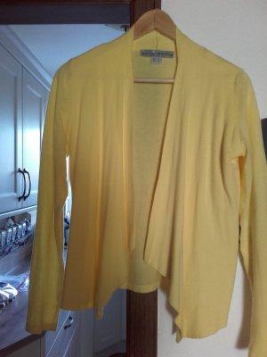 Ashley Brooke Gilet tricoté jaune primevère tissu mixte