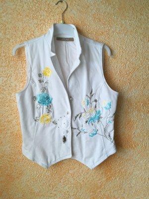 a.bottega Knitted Vest white cotton