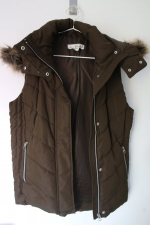 H&M Kamizelka ze sztucznym futrem oliwkowy-khaki
