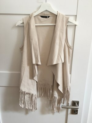 Only Fringed Vest oatmeal