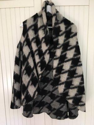 Benetton Fleece vest lichtgrijs-zwart