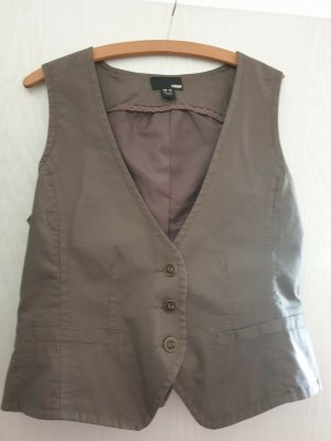 H&M Gilet en jean brun coton