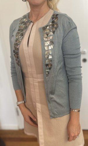 Akris Knitted Vest slate-gray