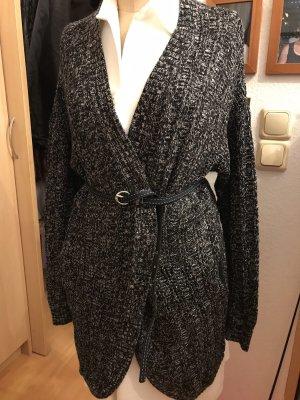 American Eagle Outfitters Gebreid vest wit-zwart