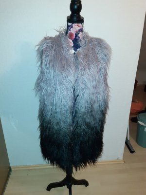 Laura Scott Fake Fur Vest multicolored