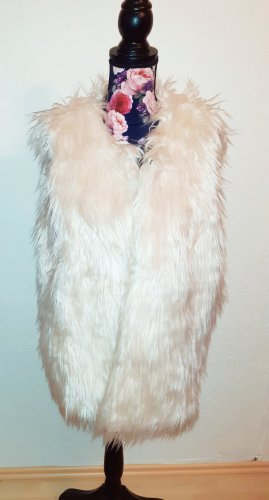 Laura Scott Kamizelka ze sztucznym futrem kremowy