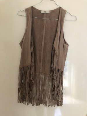 0039 Italy Fringed Vest multicolored
