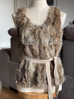 Set Fashion Fur vest beige-camel