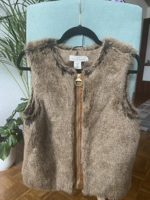 L.O.G.G. H&M Fake Fur Vest light brown