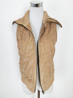 Chaleco de punto marrón claro-beige