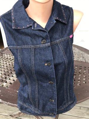 Betty Barclay Gilet en jean bleu foncé