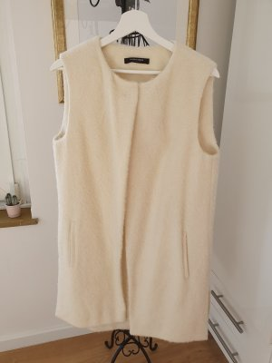 Blacky Dress Long Knitted Vest natural white