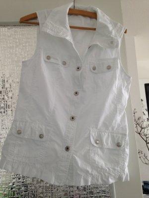 Bonita Denim Vest white cotton