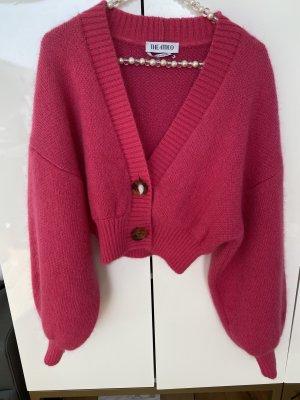 ATTICO Smanicato lavorato a maglia rosa Mohair