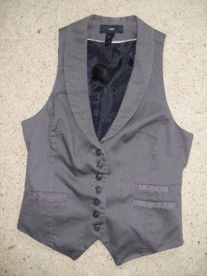 H&M Waistcoat grey brown