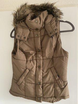 H&M Chaleco acolchado marrón claro