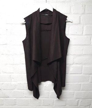 My Own Gilet en cuir brun foncé-brun noir polyester