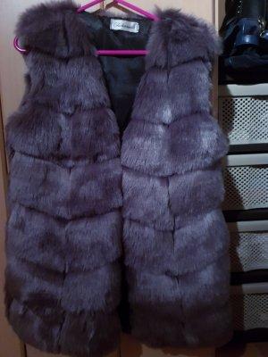 Fake Fur Vest grey
