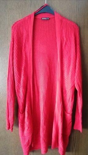 Janina Gilet long tricoté rouge