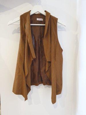Orsay Leren vest camel-lichtbruin