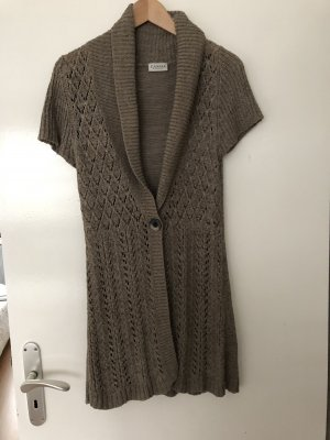 Canda Short Sleeve Knitted Jacket light brown