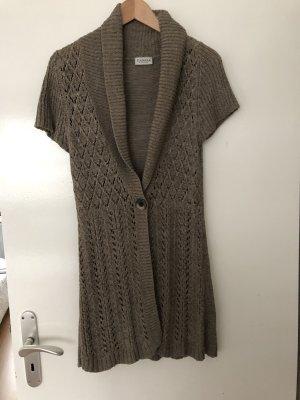 Canda Dzianinowa kurtka z krótkim rękawem jasnobrązowy