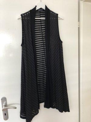 Unbekannter designer Lang gebreid vest zwart