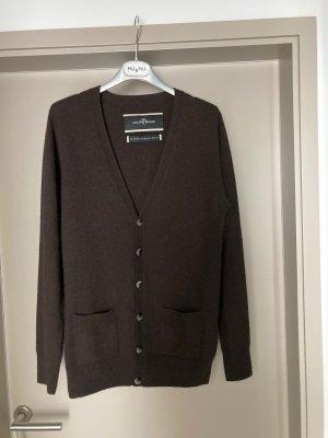 By Marlene Birger Long Knitted Vest dark brown cashmere