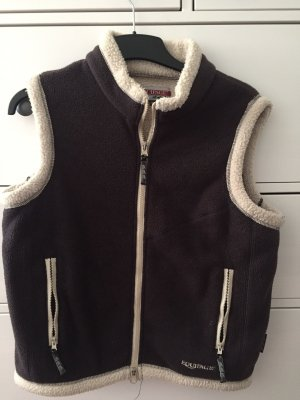 Equipage Fleece vest lichtbruin