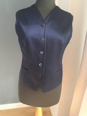 Tristano Onofri Reversible Vest dark blue wool