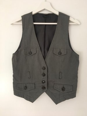 Quilted Gilet multicolored linen