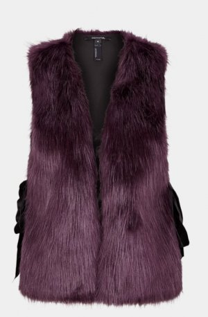 Comma Fake Fur Vest blackberry-red mixture fibre