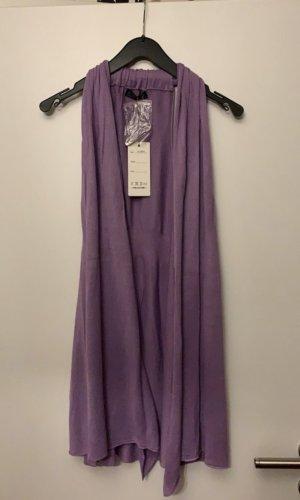 Knitted Vest grey violet