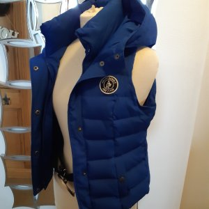 Abercrombie & Fitch Chaleco con capucha azul
