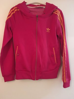 Adidas Hooded Vest raspberry-red-orange polyester