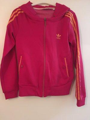 Adidas Chaleco con capucha rojo frambuesa-naranja Poliéster