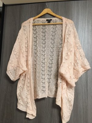 H&M Smanicato lavorato a maglia rosa pallido-rosa chiaro