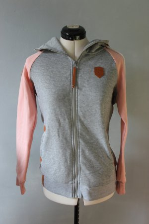 Hooded Vest light grey-pink