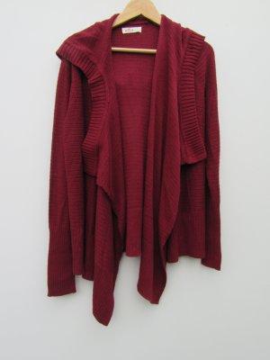 Hollister Hooded Vest dark red