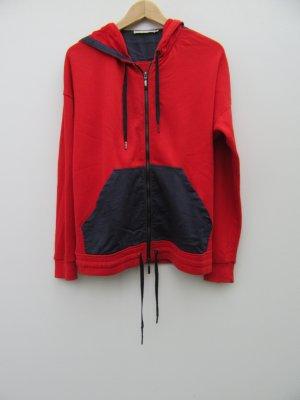 Stefanel Gilet à capuche rouge