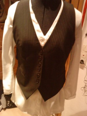 HM Reversible Vest black-natural white mixture fibre