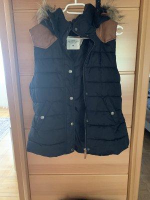 H&M Smanicato di pelliccia nero-marrone