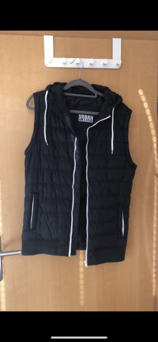 Urban Classics Capuchon vest zwart-wit