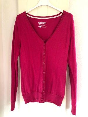 1982 Chaleco de punto rosa-magenta