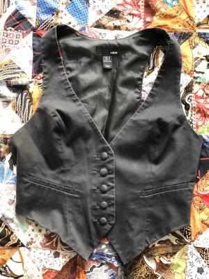 H&M Chaleco de tela vaquera negro