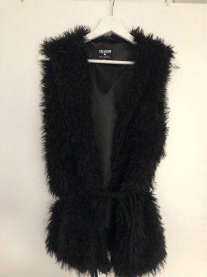 Coluseum Fake Fur Vest black